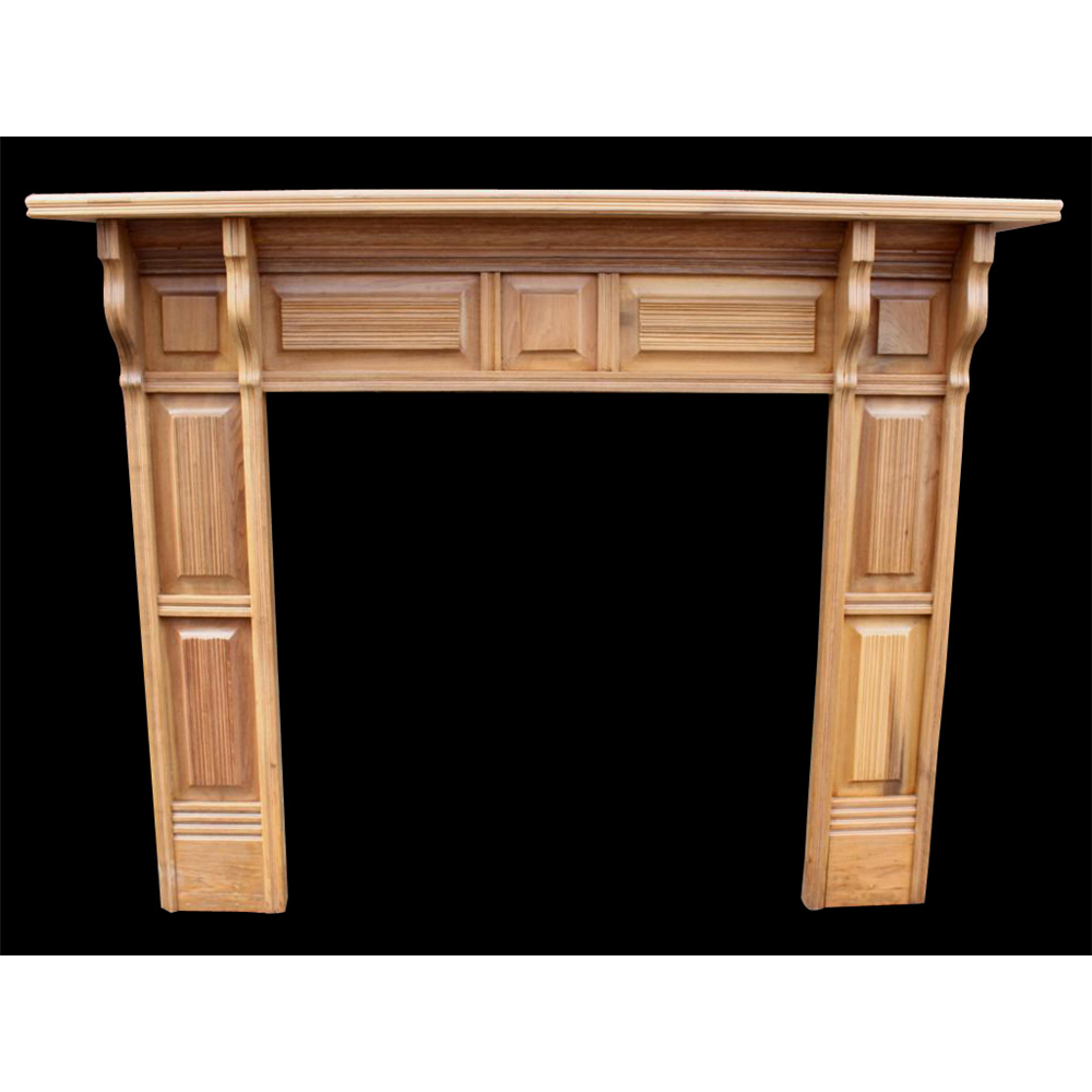 Original Late Victorian Wood Fire Surround, Arts & Crafts