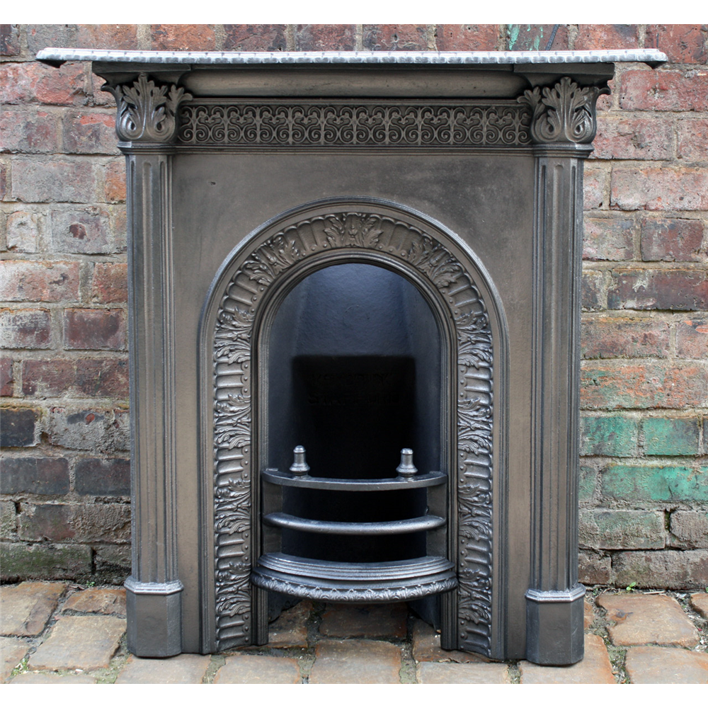 Antique Reclaimed Victorian Bedroom Cast Iron Fireplace Antique Cast Iron Fire Surrounds