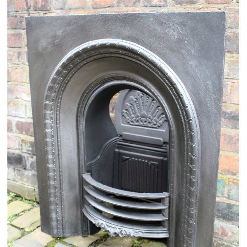 Small Victorian Reclaimed Arched Cast Iron Fire Grate Register Arched Grates And Fascias