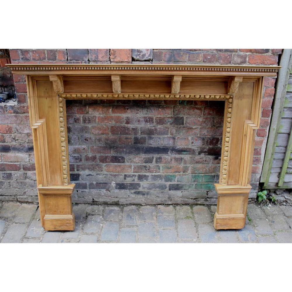 Original Late Victorian Wood Fire Surround, 