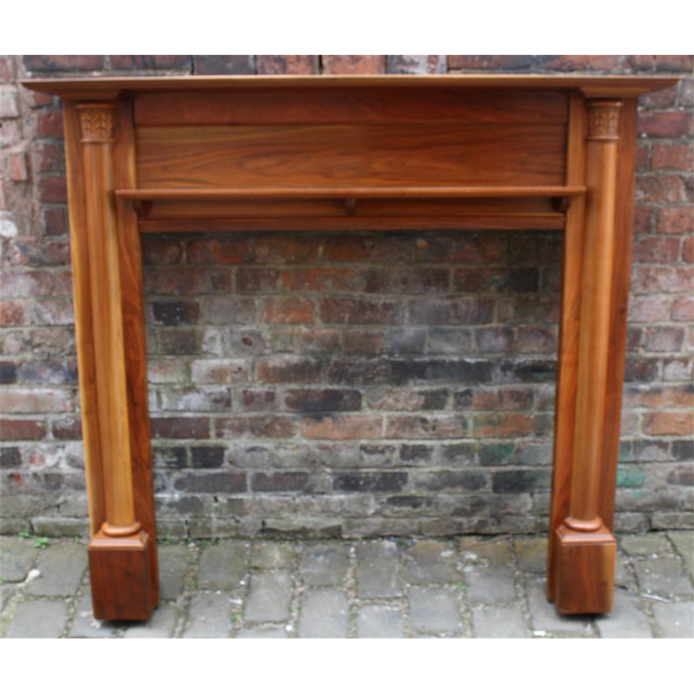 Original Edwardian Reclaimed Wood Fire Surround Walnut Fire Surround Wood Wooden Antique