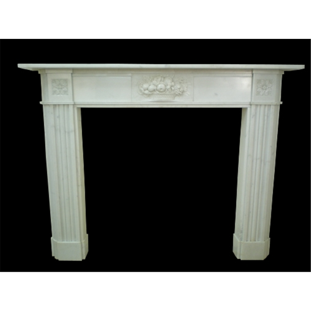 Original Late Georgian Marble Fire Surround, 