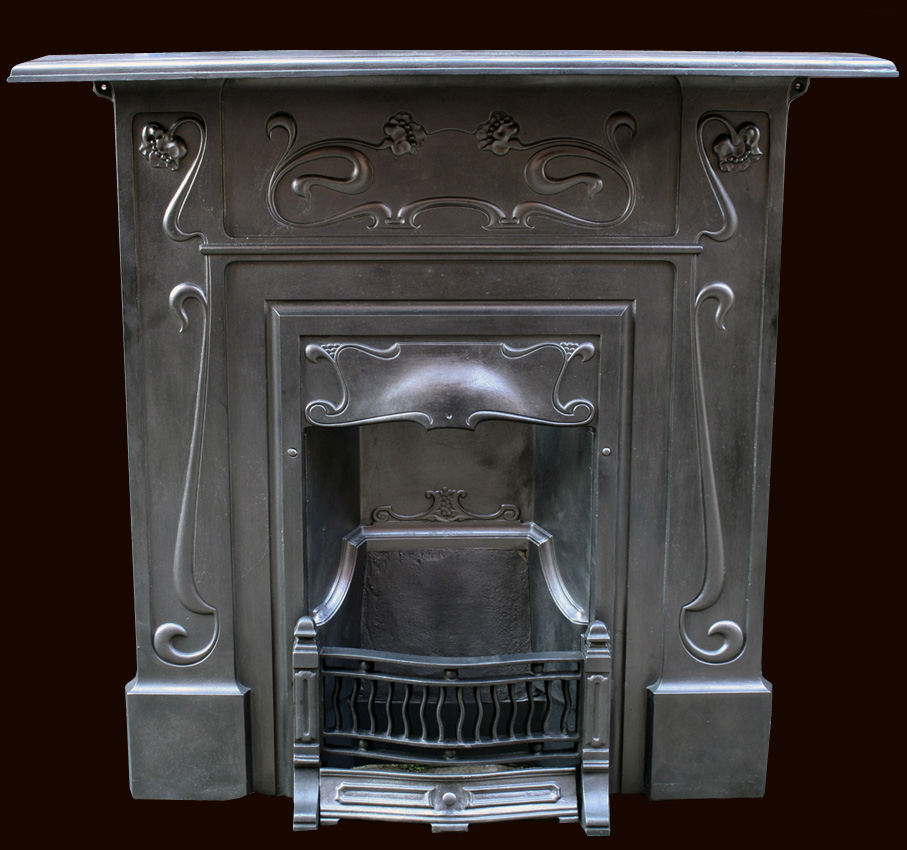 Art Nouveau Antique Fireplaces (1890's - 1905)