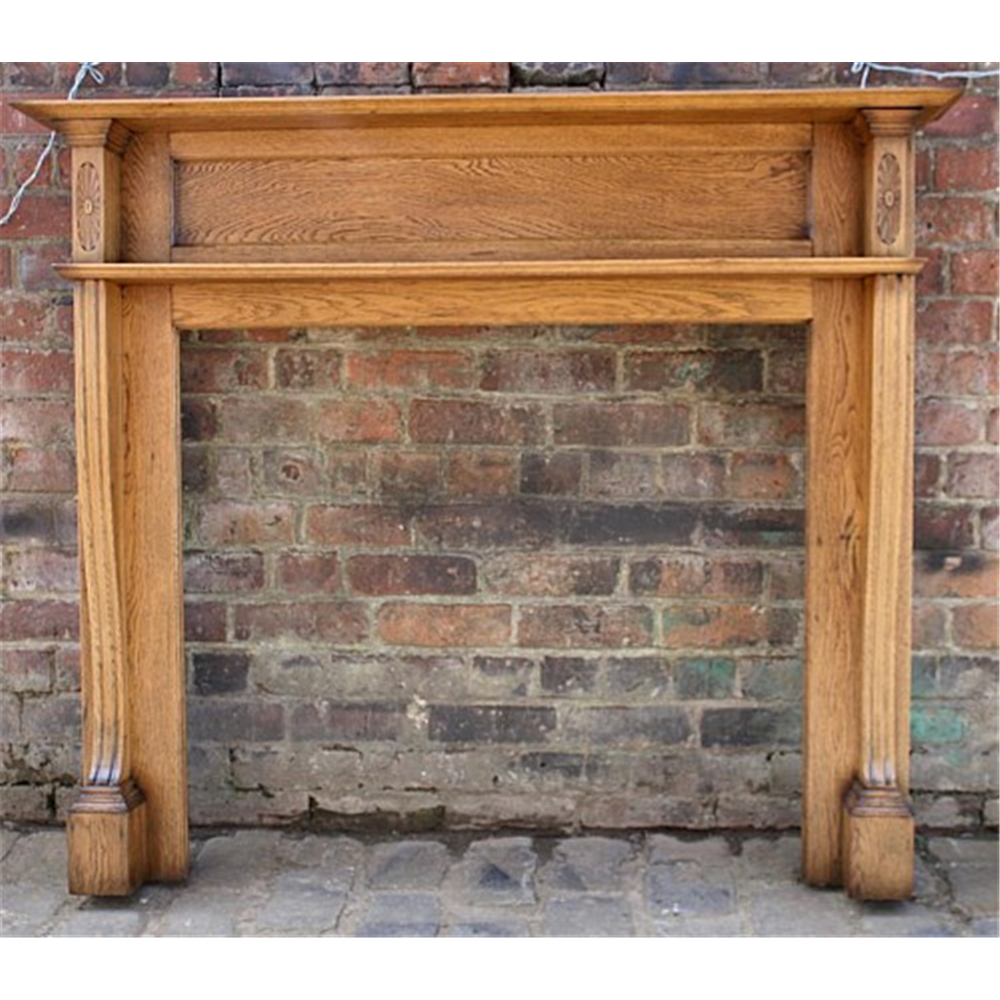 Edwardian Fire Surround in Oak - Edwardian Fire Surround In Oak Archive