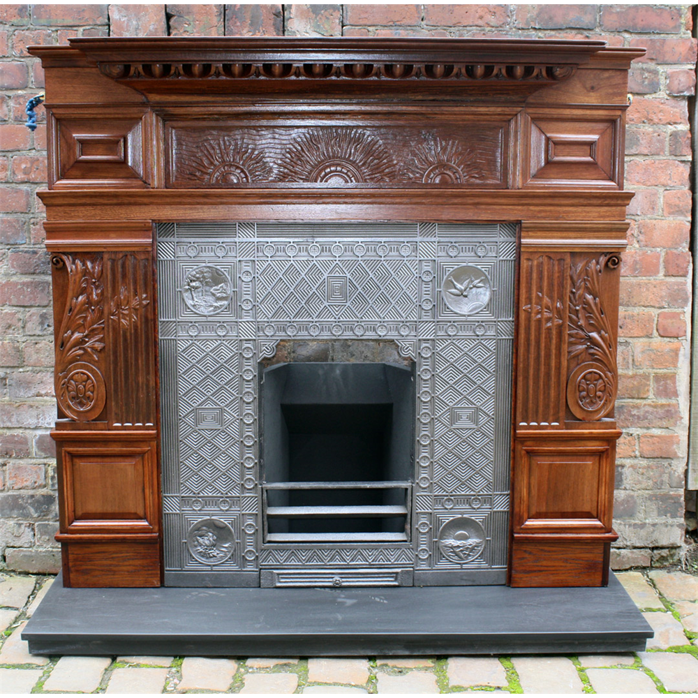 Original Victorian Wood Fire Surround, Aesthetic