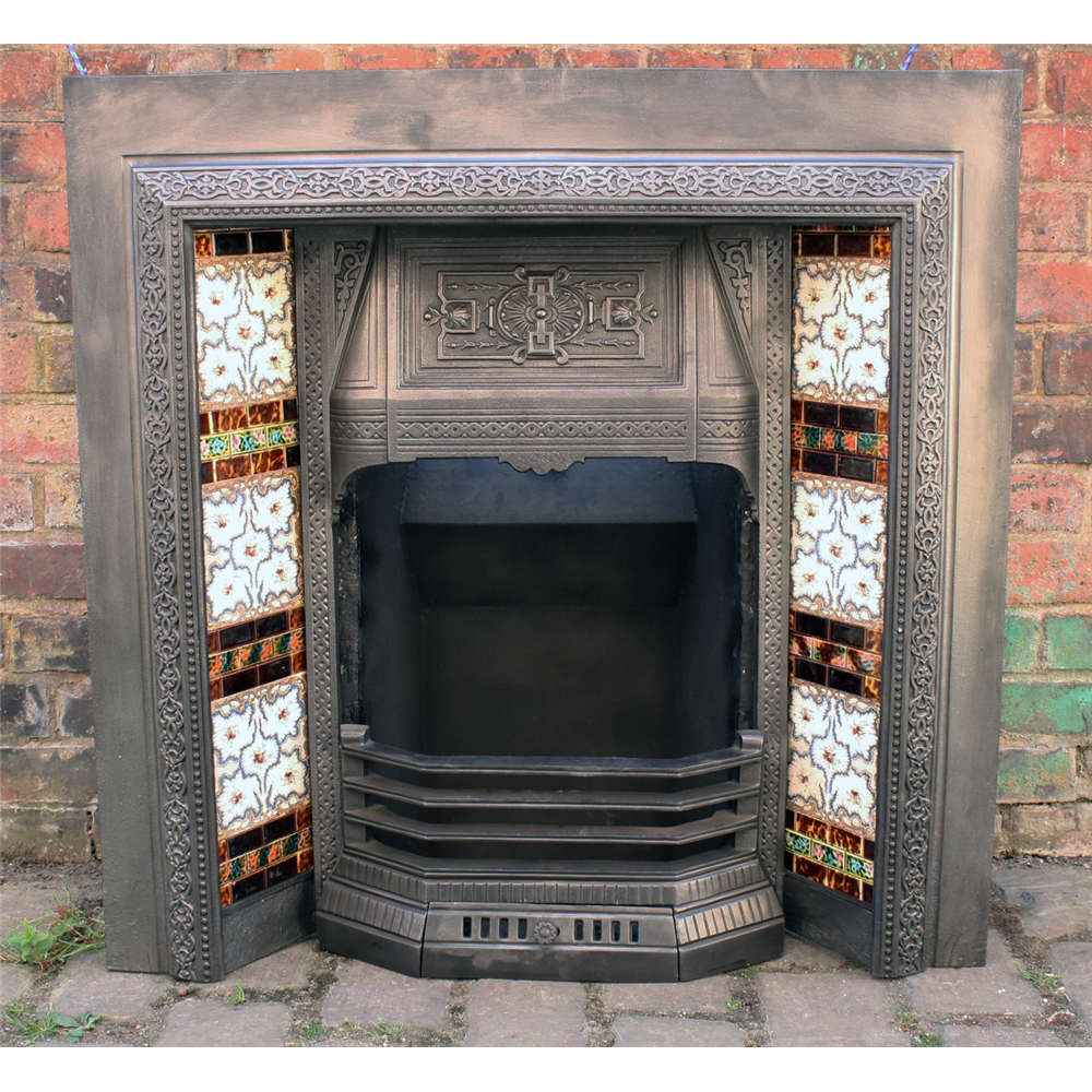 Reclaimed Victorian Cast Iron Fireplace Insert Price Not Including