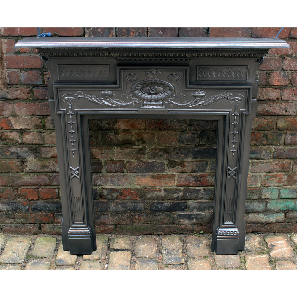 Antique Reclaimed Victorian Fire Surround In Cast Iron Archive