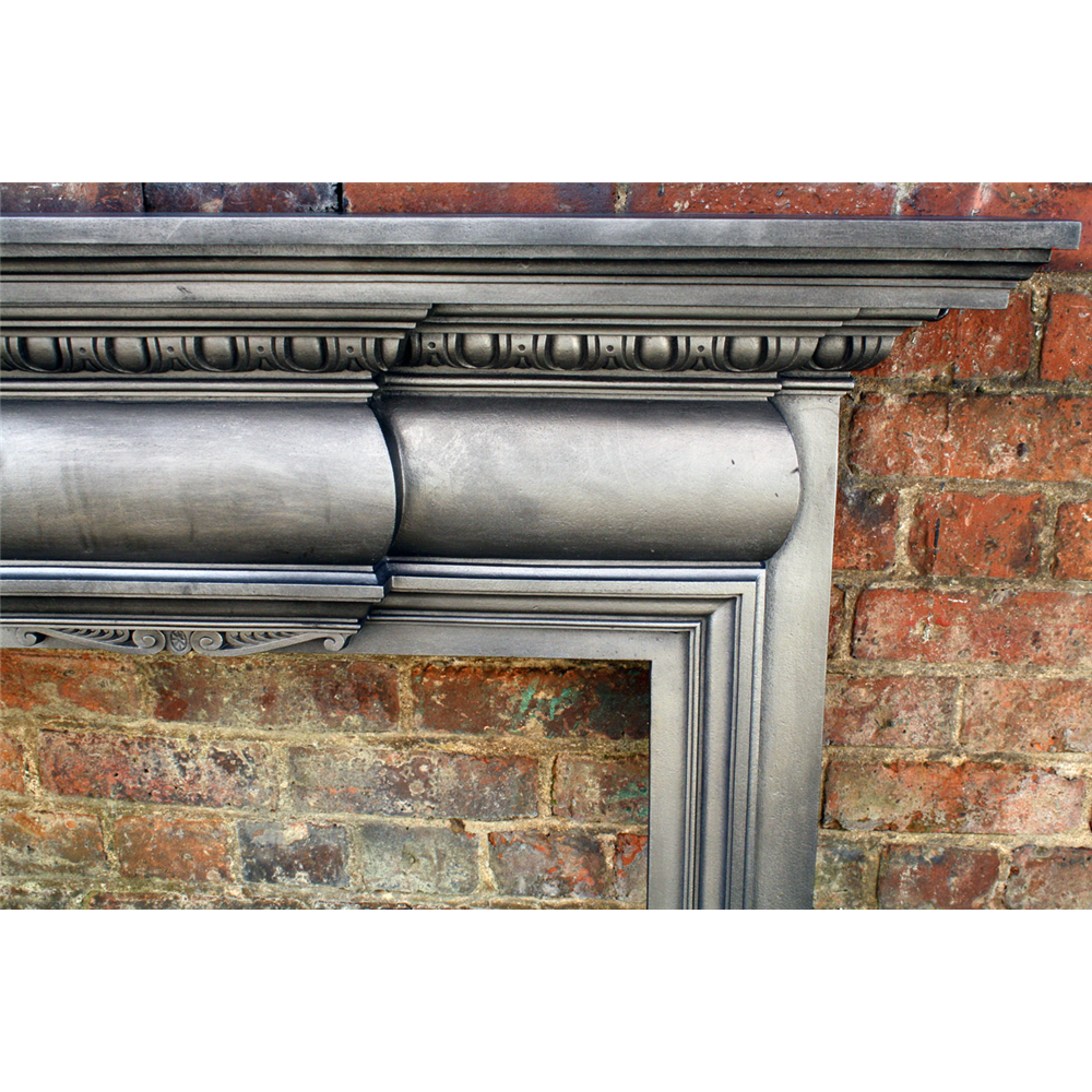 Antique Reclaimed Edwardian Fire Surround In Cast Iron Original Fire Surrounds