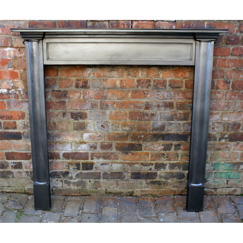 Large Antique Edwardian Range Fire Surround Antique Cast Iron Fire Surrounds