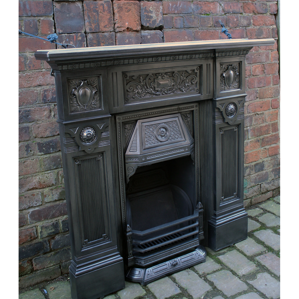 the fire queen victorian cast iron combination fireplace archive