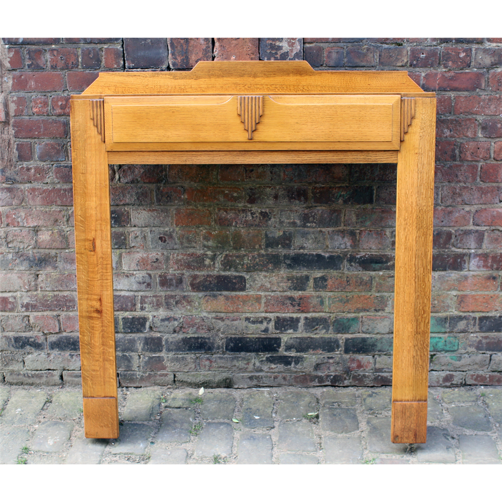 Reclaimed Art Deco Oak Fire Surround Wooden Antique Fire Surrounds
