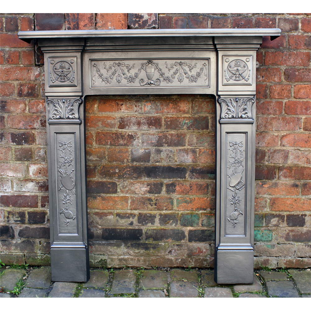 Late Victorian Original Reclaimed Cast Iron Fire Surround Original Fire Surrounds