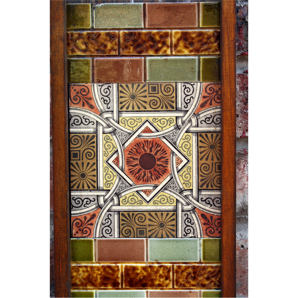 set of Victorian fireplace tiles
