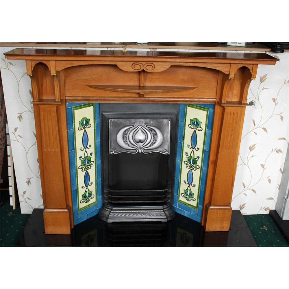 Original Edwardian Cast Iron Canopy on Legs, Art Nouveau