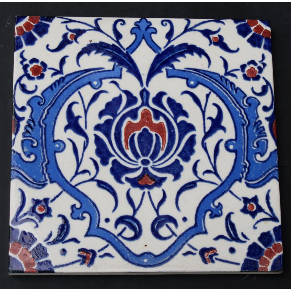 Original Victorian Ceramic Fireplace Tiles,