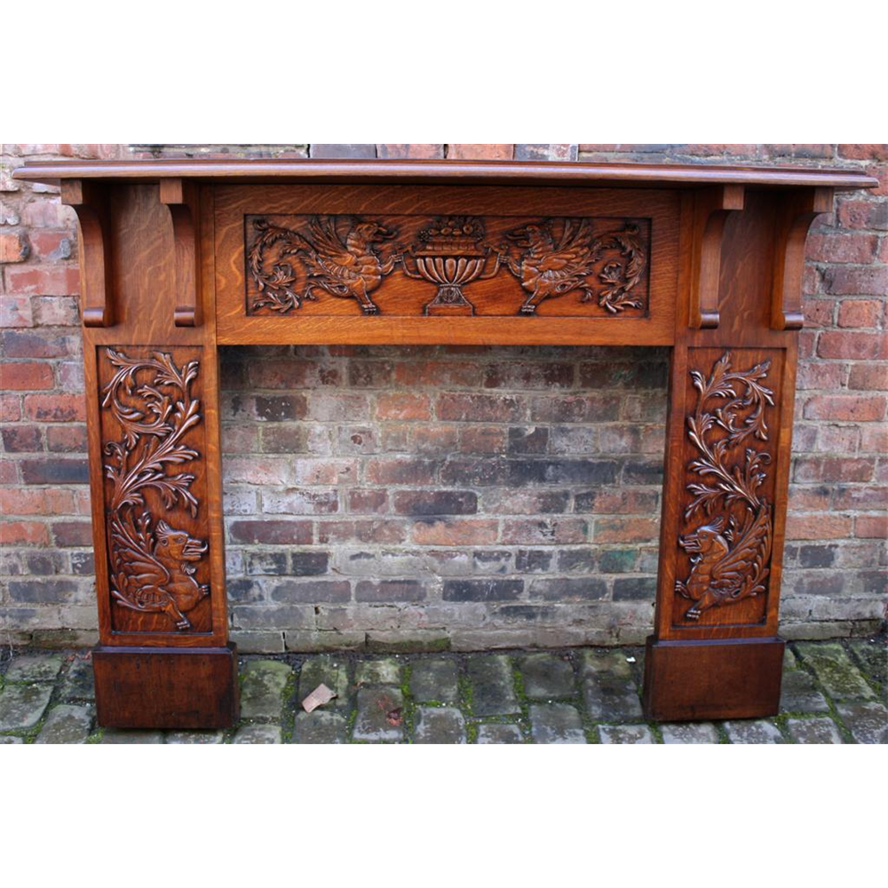 antique wooden fireplace surrounds