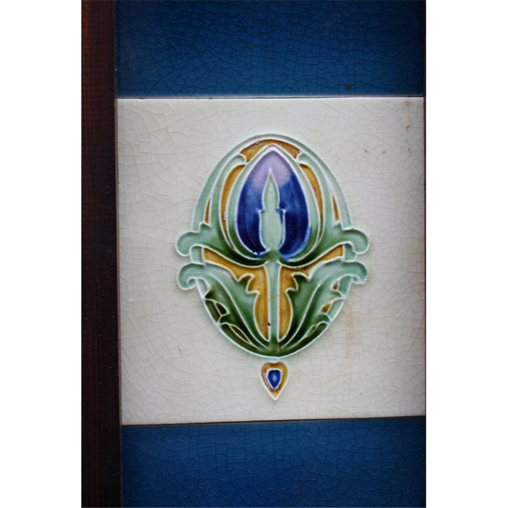 Victorian Fireplace Tiles in Ceramic Art Nouveau