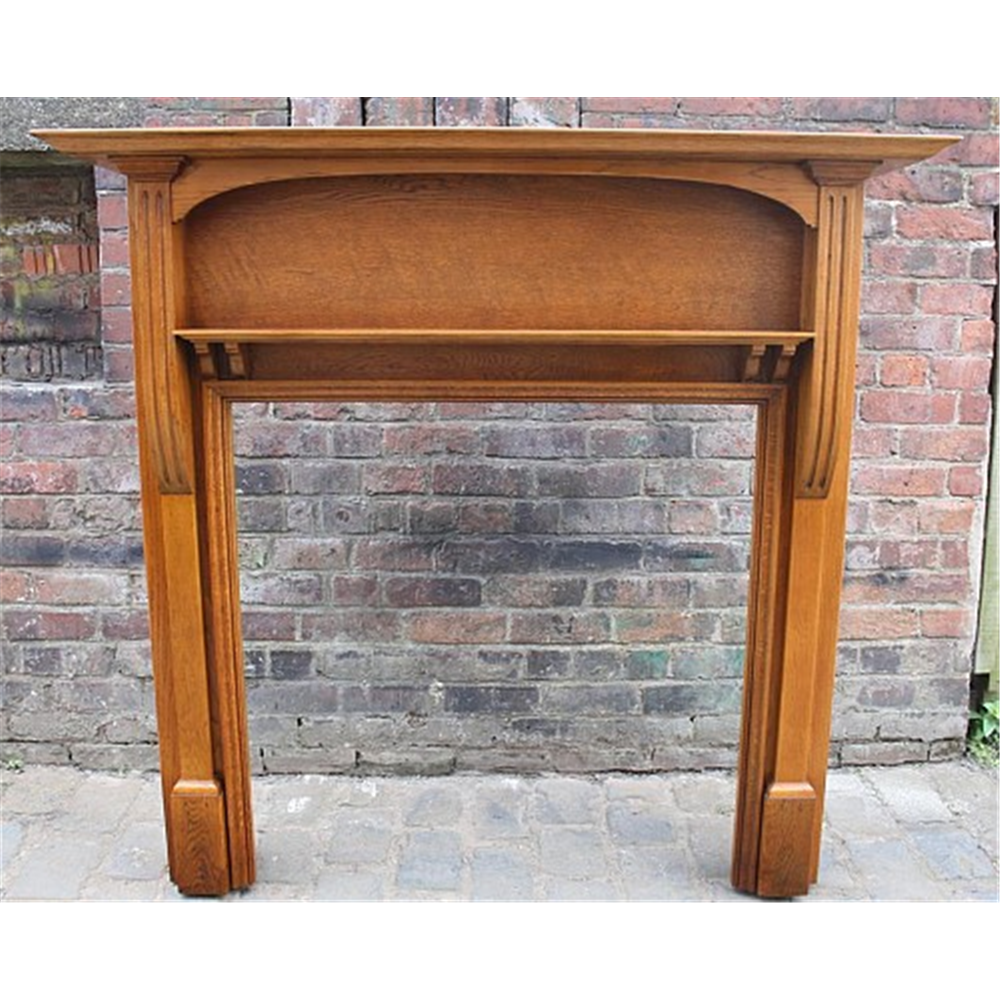 Edwardian Fire Surround In Oak Reserved