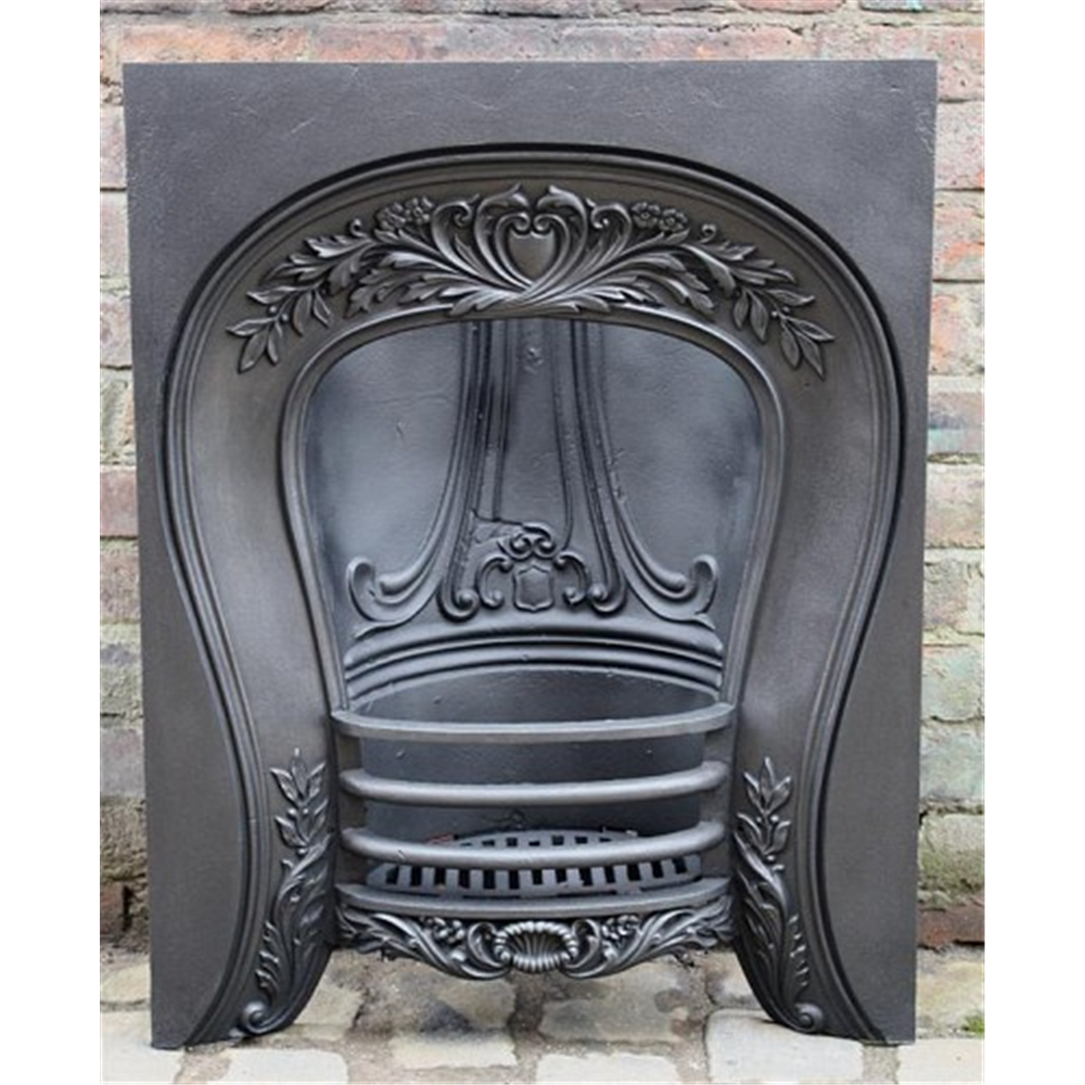 Victorian Arched Grate In Cast Iron Horseshoe