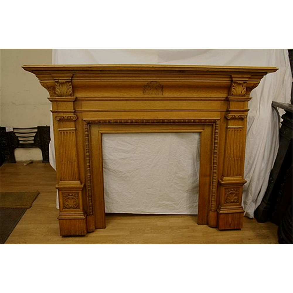 Late Victorian Fire Surround In Oak
