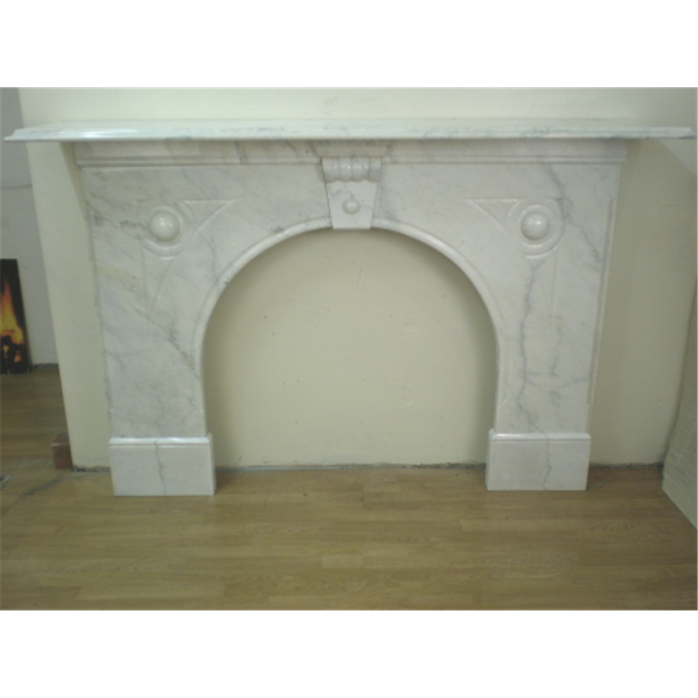 Late Victorian Fire Surround In Marble Carrera Marble