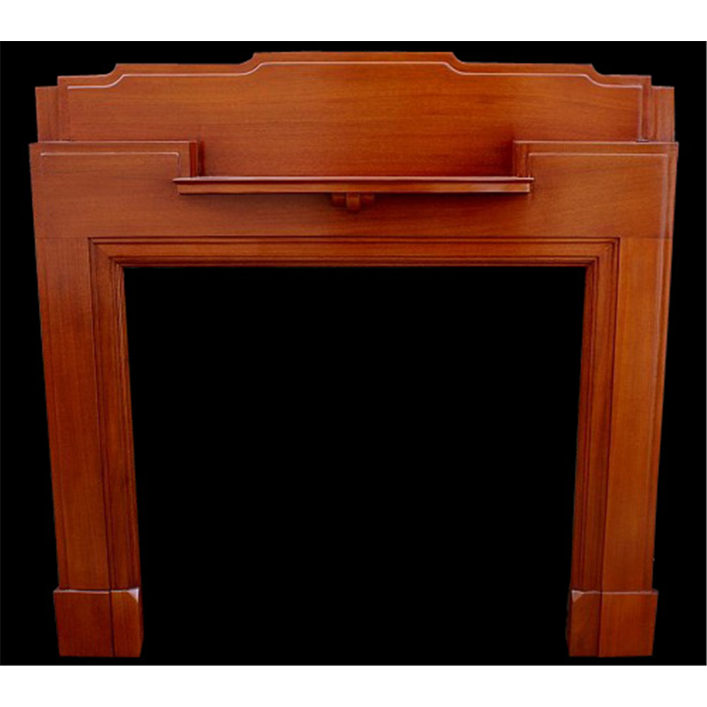 1920'S Reclaimed Mahogany Antique Fire Surround