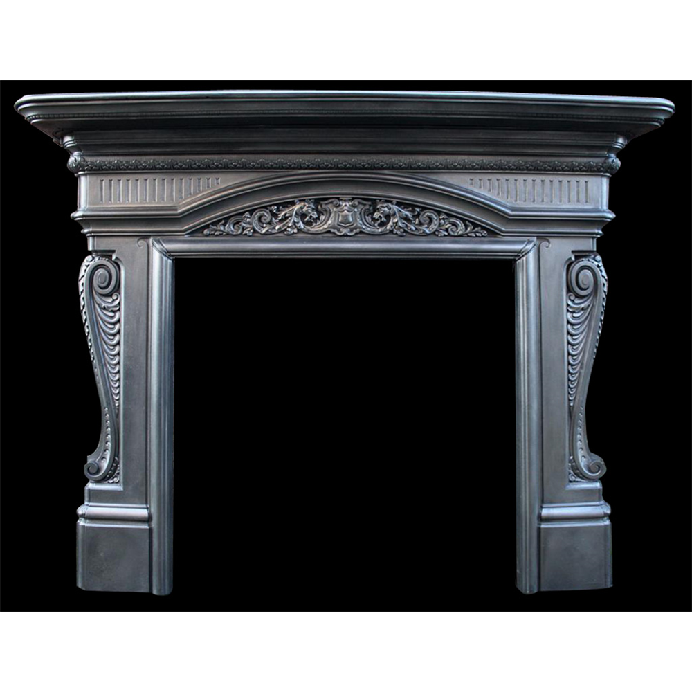 The Dragons Antique Cast Iron Victorian Fire Surround