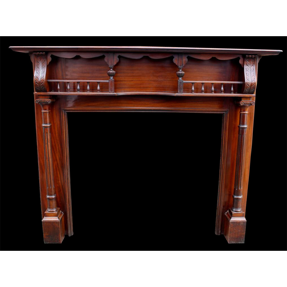 Antique Victorian Restored Mahogany Fire Surround