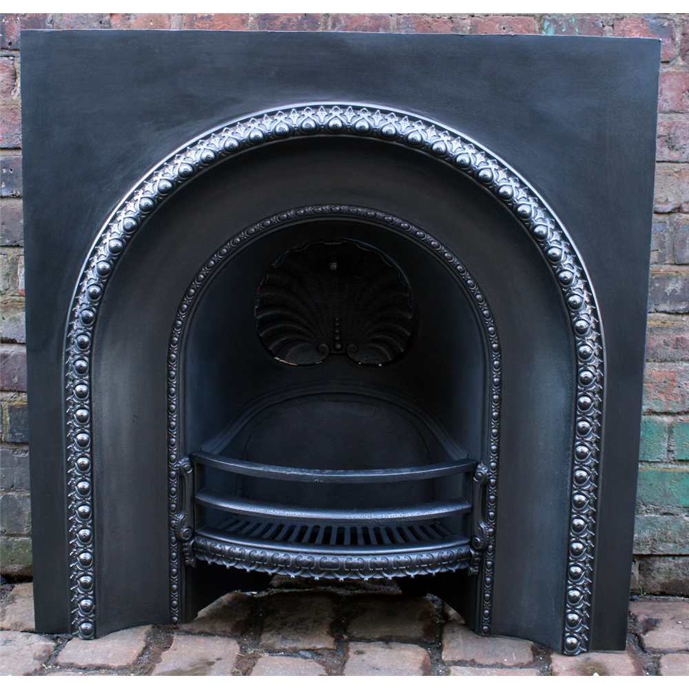 Victorian Arched Grate In Cast Iron