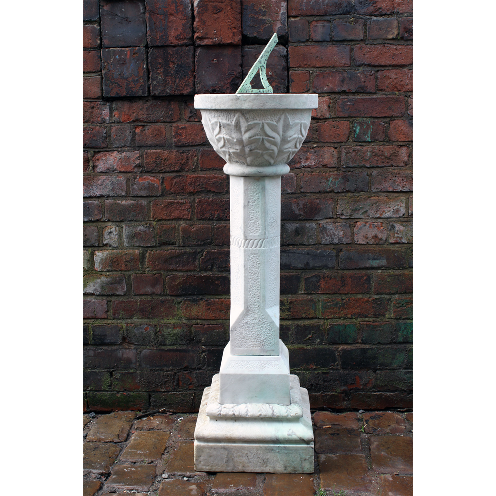 Late Georgian/ Early Victorian Marble Sundail Georgian/ Early Victorian Sundial