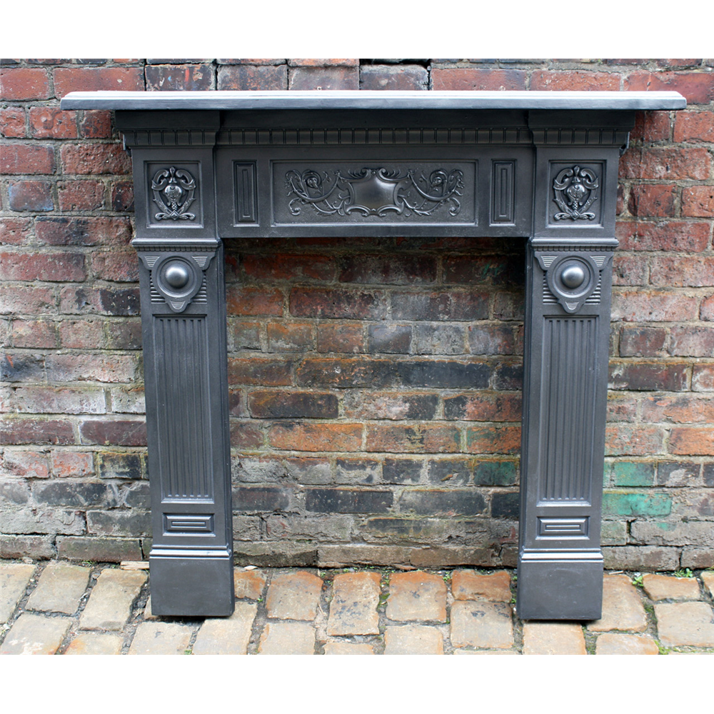 Late Victorian Fire Surround In Cast Iron Small