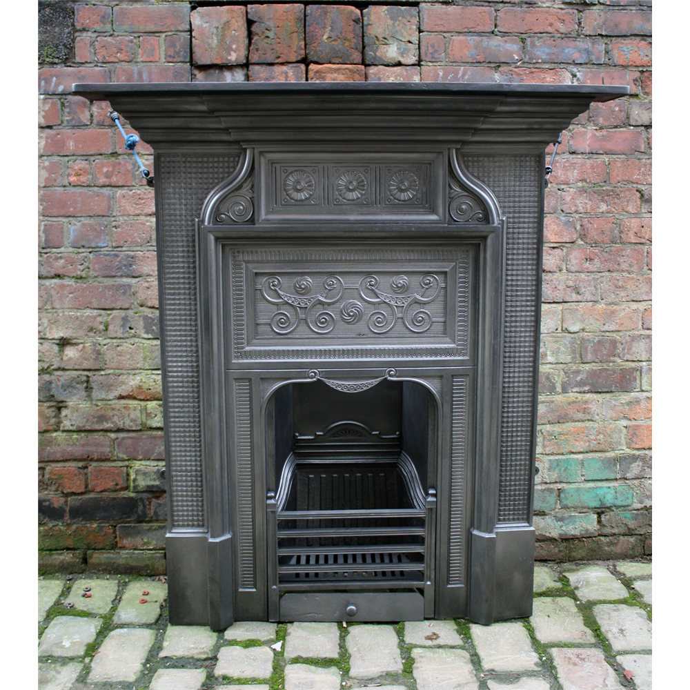 Aesthetic Cast Iron Victorian Combination Fireplace