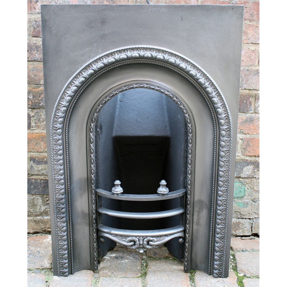 Victorian Reclaimed Arched Cast Iron Fire Grate
