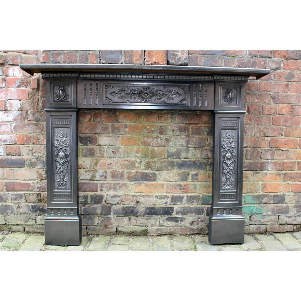 Antique Late Victorian Cast Iron Fire Surround