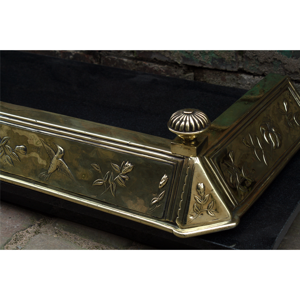 Late Victorian Brass Fire Fender