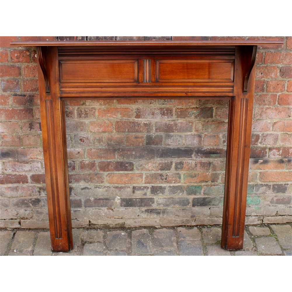 Edwardian Fire Surround In Wood Mahogany Fire Surround - Wood