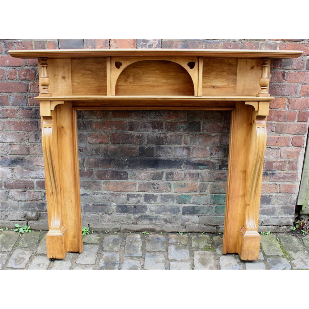 Victorian Reclaimed Pine Firesurround Pine Fire Surround - Wood