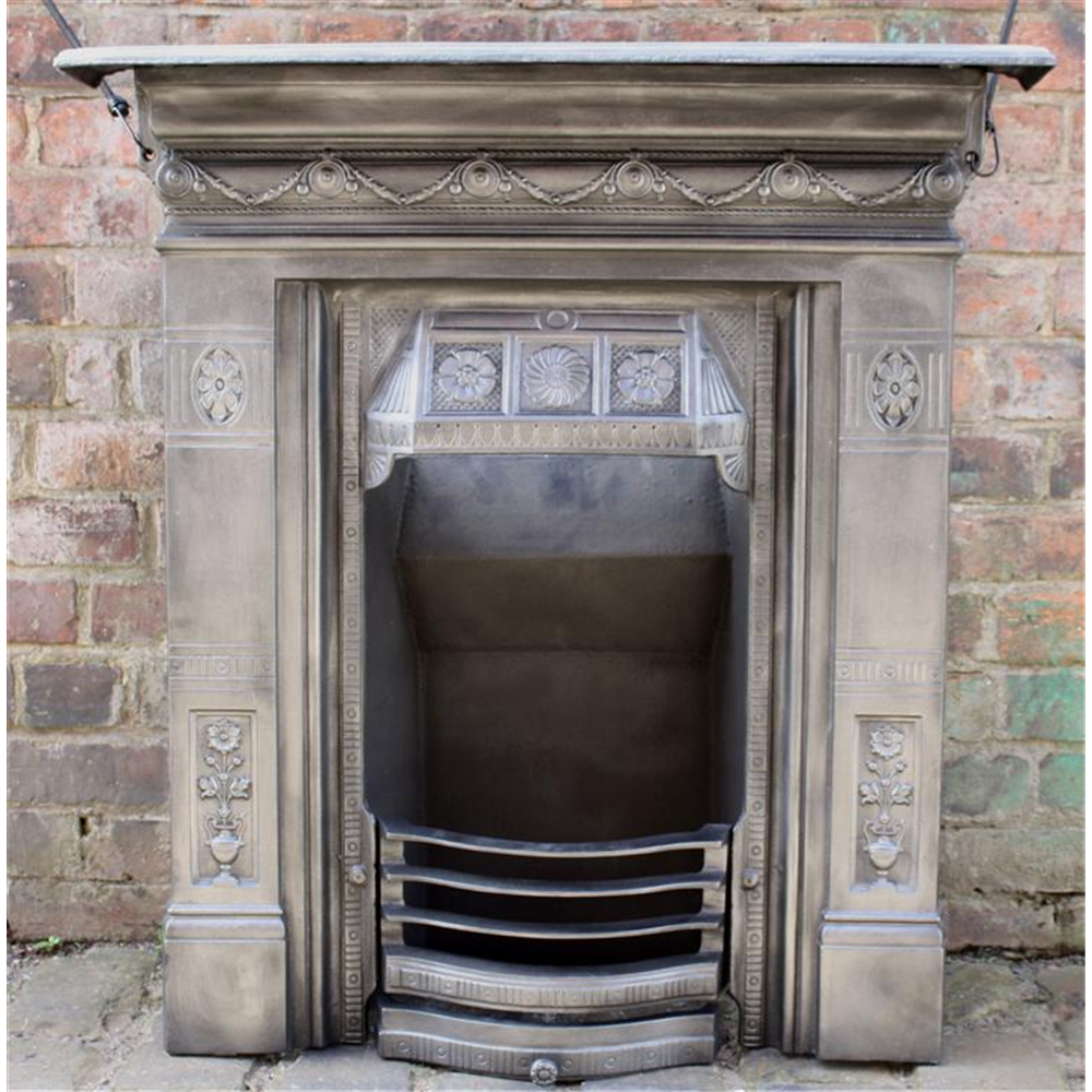 Late Victorian Combination Grate In Cast Iron