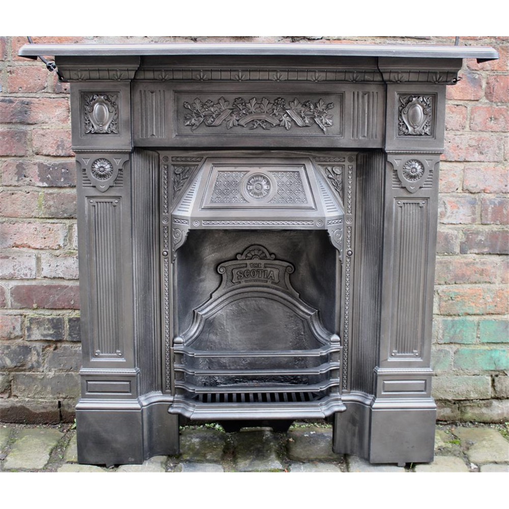 Victorian Cast Iorn Biclam Scotia Fireplace
