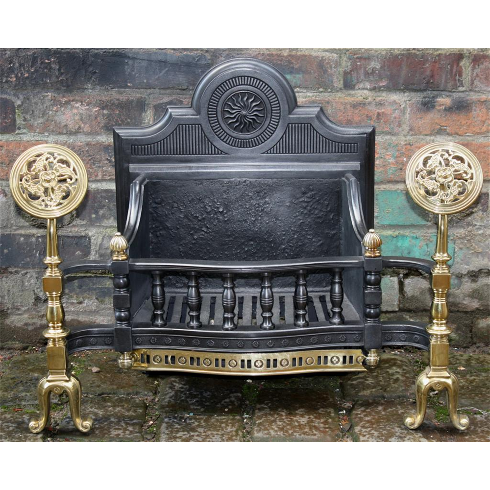 Edwardian Fire Basket In Cast Iron Arts & Crafts