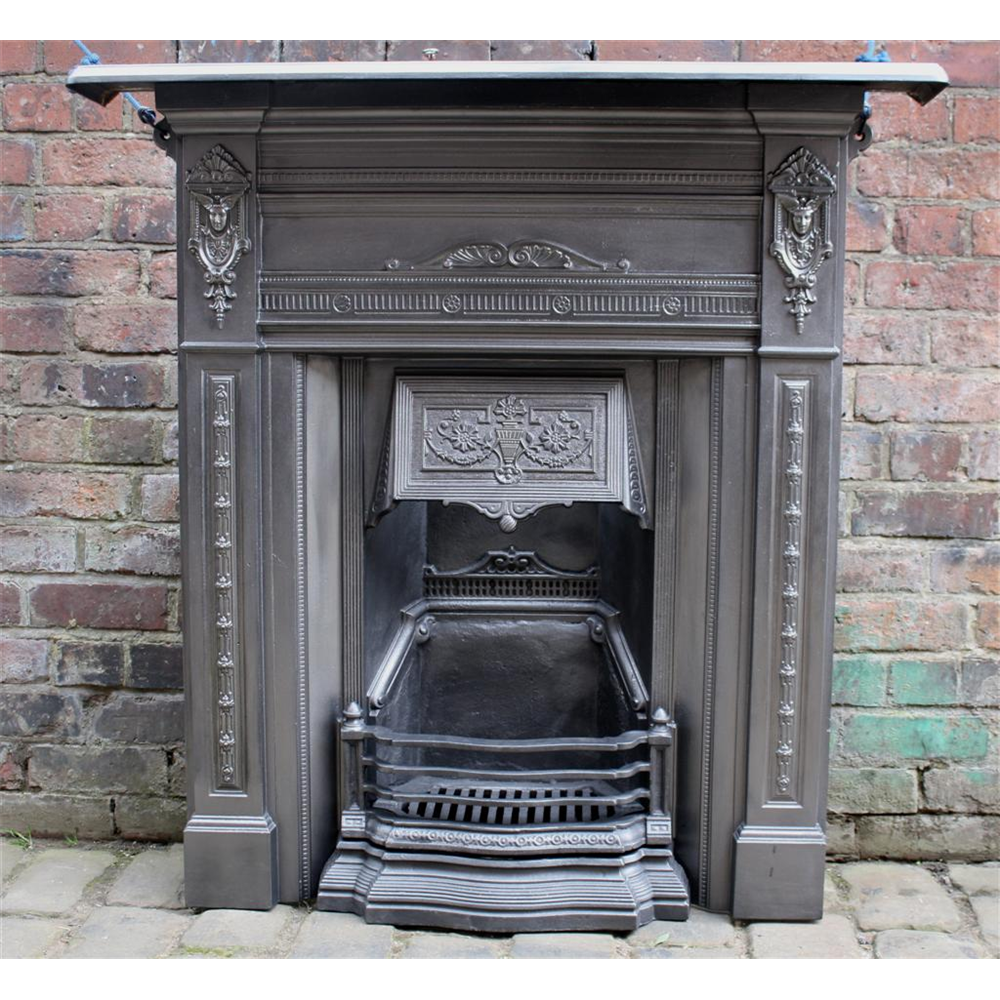 Restored Victorian Combination Fireplace