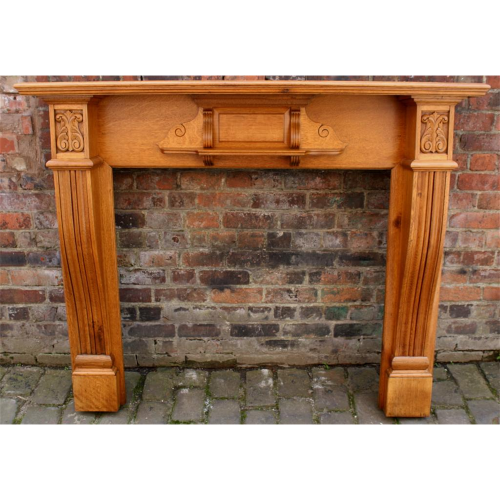 Victorian Antique Reclaimed Oak Fire Surround