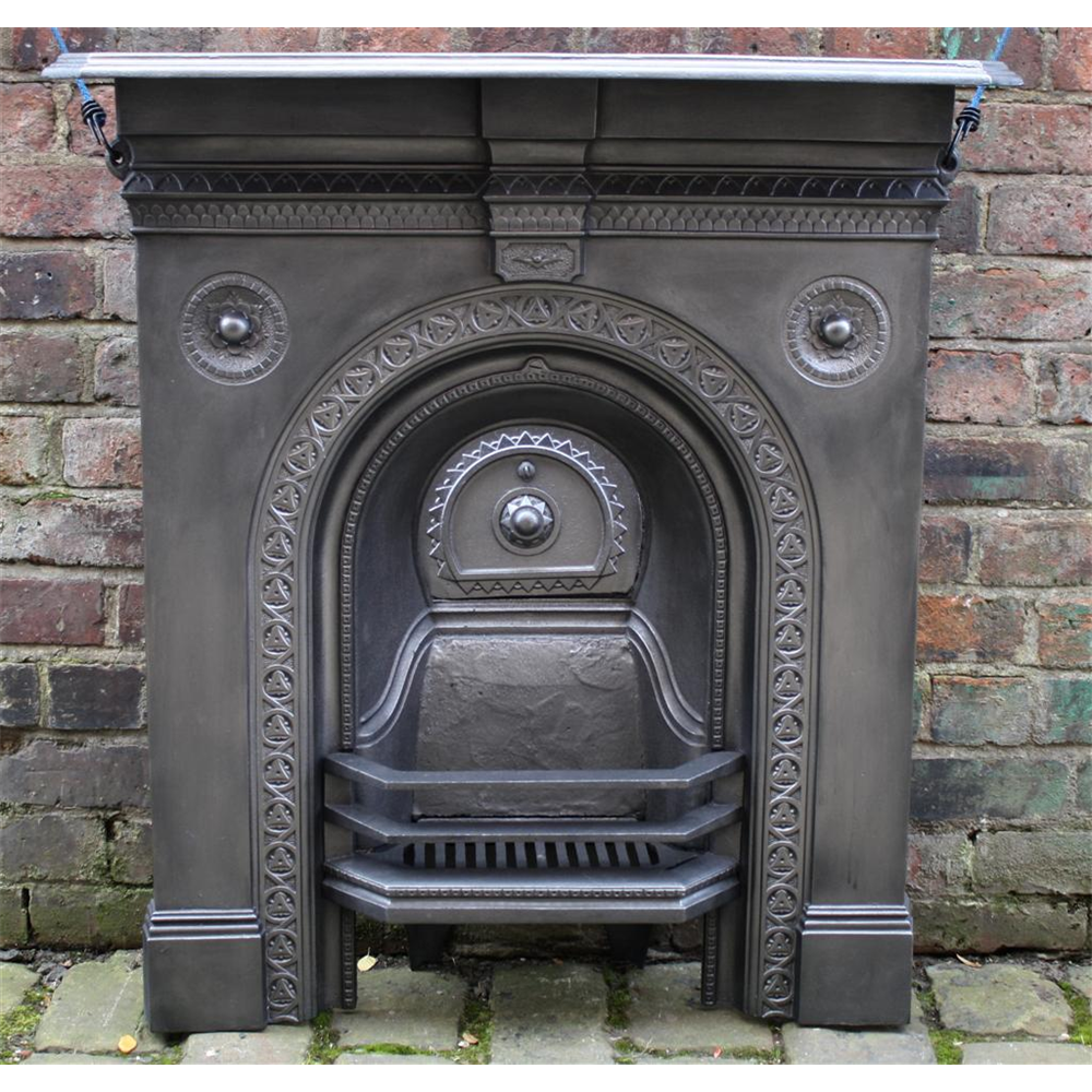 Victorian Combination Grate In Cast Iron Victorian Bedroom Fireplace