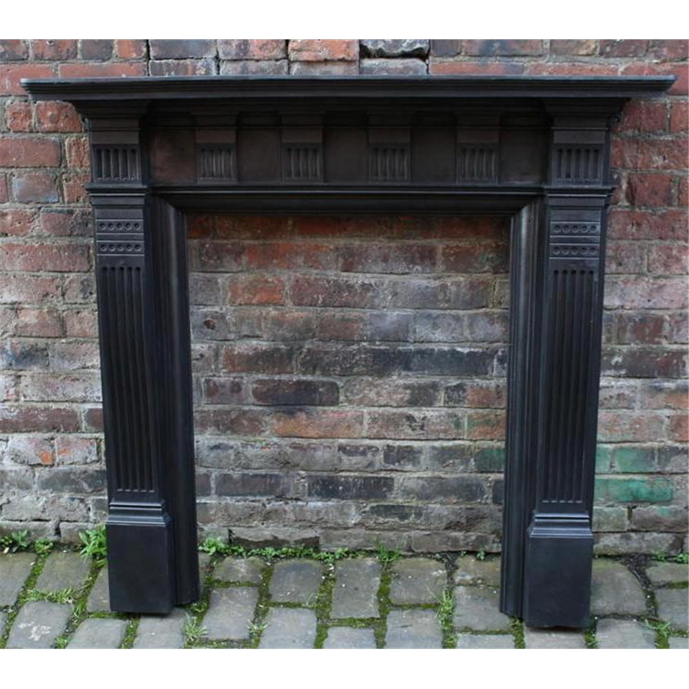 Late Victorian Fire Surround In Cast Iron Cast Iron Fire Surround Falkirk