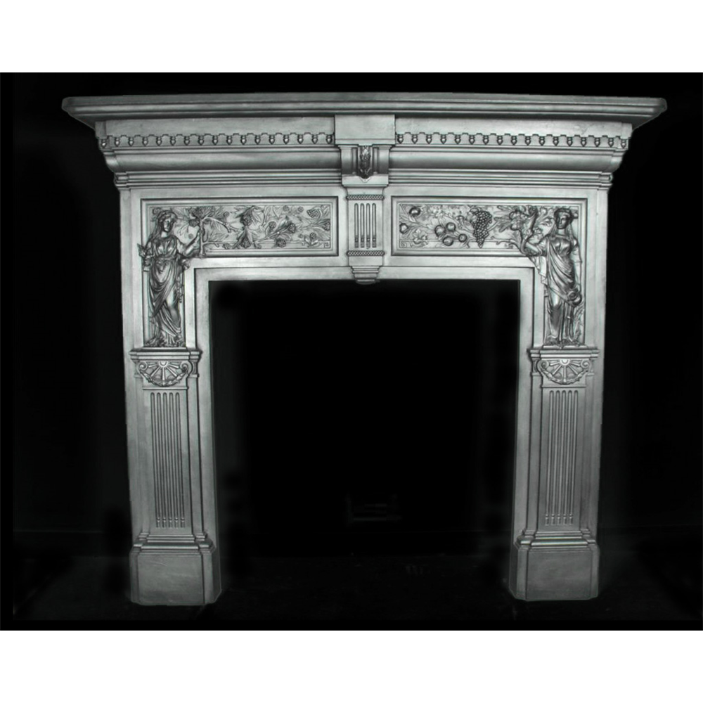 Peace & Plenty Cast Iron Antique Fire Surround