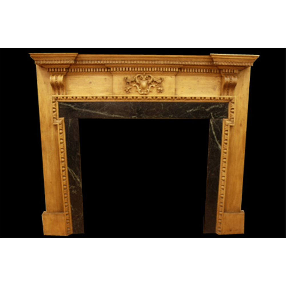 Late Georgian Pine Restored Antique Fire Surround