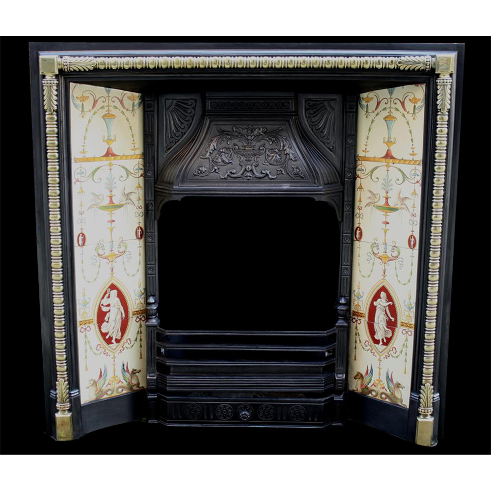 Neo Classical Victorian Tiled Grate