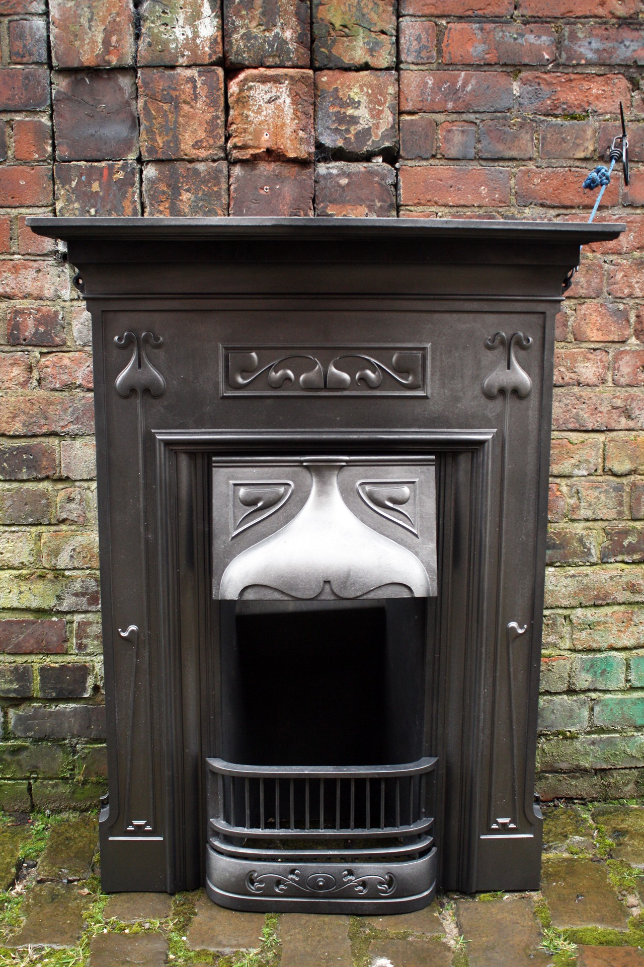 Edwardian Art Nouveau Restored Combination Fire Grate