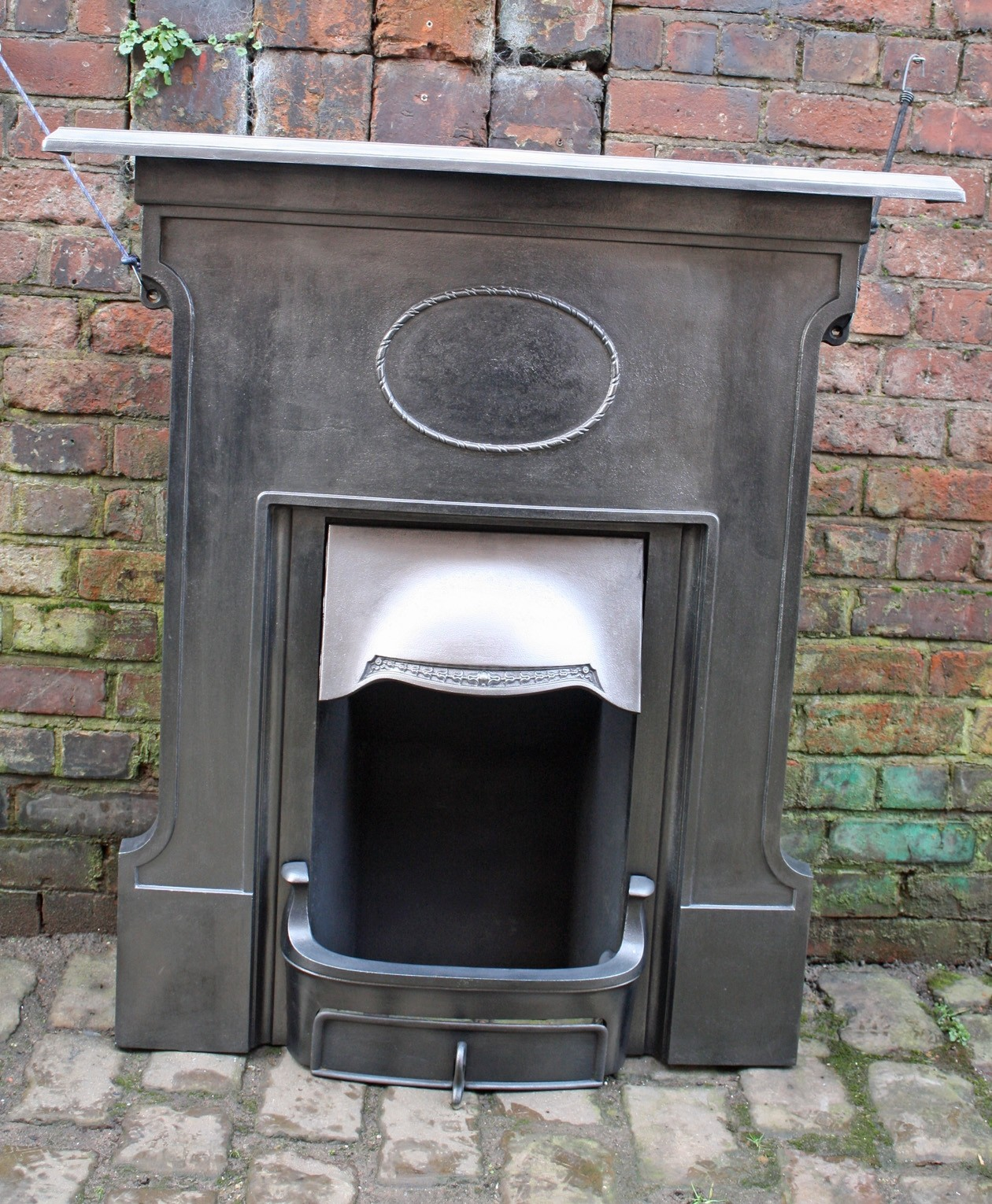 Edwardian Combination Grate In Cast Iron Bedroom Fireplace
