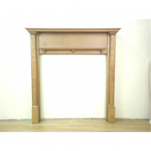 Edwardian Fire Surround In Oak Arts & Crafts